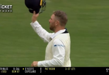WATCH: Aaron Finch subbed out of Sheffield Shield clash after being struck at short leg