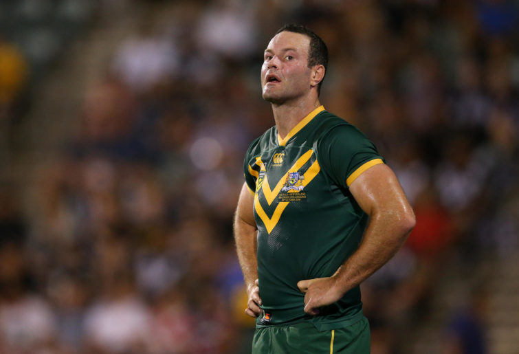 Boyd Cordner of Australia looks on during the International Rugby League Test Match