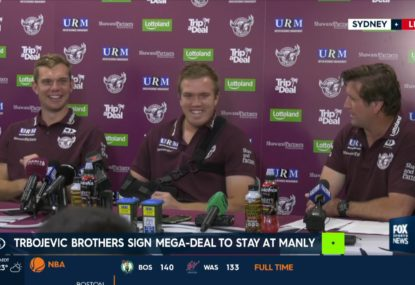 Ecstatic Des Hasler takes the mickey after new Trbojevic deals announced