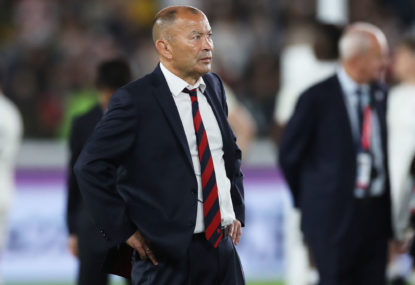 Eddie Jones receives