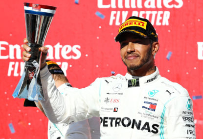 Lewis Hamilton closes out the season in style