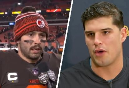 Browns QB calls out teammate over 'inexcusable' helmet hit on rival
