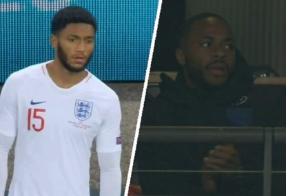 England fans boo their own player over Sterling drama