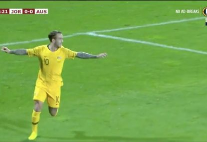 Adam Taggart continues his fine form for the Socceroos