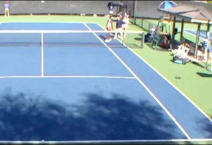 Scuffle breaks out between two tennis players following handshake