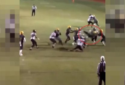 High school footballer gets smashed into another dimension