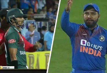 Third ump's awkward mistake cruelly gives Bangladesh batsman a split second of hope