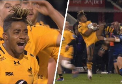 Wasps winger can't believe he's been sent off for kicking out at opponent