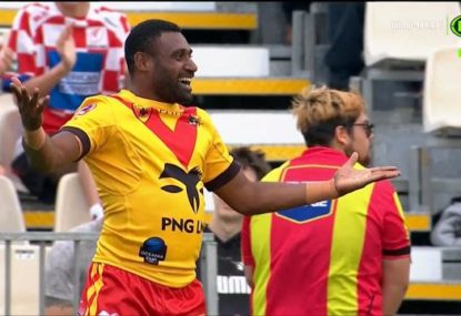 PNG Kumuls winger's spectacular 75-metre try against Fiji