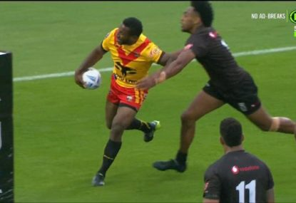 Commentators divided as PNG pinged for forward pass from behind their own try-line