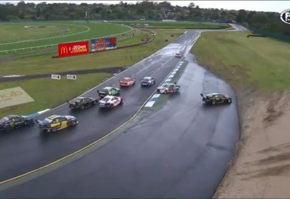 Sandown 500 driver bizarrely cops penalty for collision... despite rival admitting HE was to blame