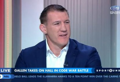 Paul Gallen takes a shot at Barry Hall's 'boxing career' hopes