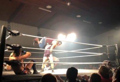Former Eagle and 2019 draft hopeful makes... wrestling debut?