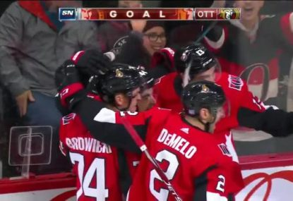 Blink and you will miss it! Ottawa score two goals in four minutes