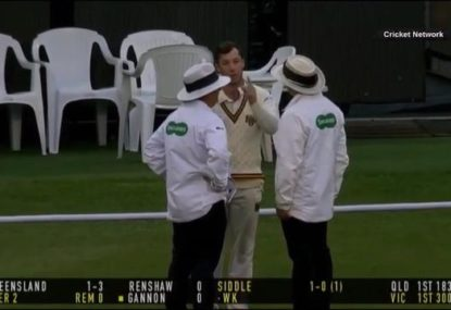 Mass confusion at the MCG as technicality leaves everyone scrambling for the rulebooks