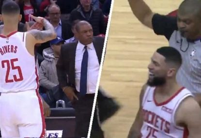 Austin Rivers savagely calls for his Dad Doc Rivers to get ejected