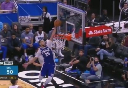 Ben Simmons continues to add to his stunning highlight reel with super one-hand effort