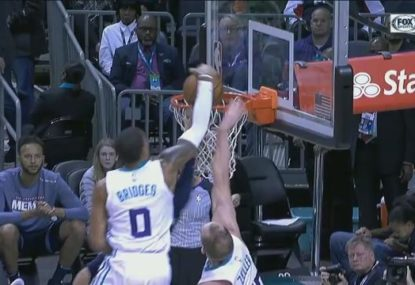 Charlotte star flies high for monster dunk over several opponents