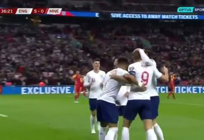 Harry Kane stars with a hat-trick as England thrash Montenegro 7-0