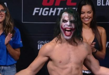Brazilian figher's bonkers 'Joker' UFC Sao Paulo weigh-in stunt