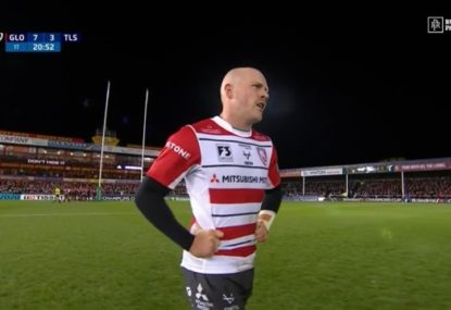 Gloucester scrum half tears up the turf twice in ten electric minutes