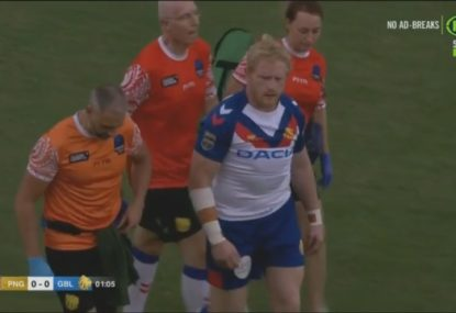 James Graham KOd in opening tackle attempt against PNG