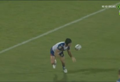 Lions fullback has nightmare under the high ball as PNG run in some stunning tries