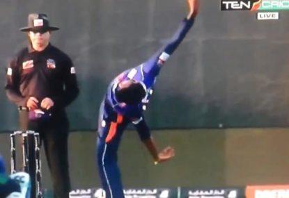 Sri Lankan leg spinner's truly bizarre bowling action