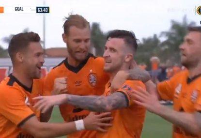 Melbourne City cough up a 2-0 lead to Brisbane Roar in seven-goal shootout