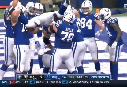 NFL guard's all-time TD celebration... before it gets disallowed
