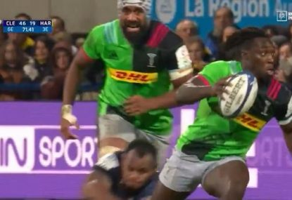 Harlequins young gun puts on a 50m stepping masterclass to set up bonkers try