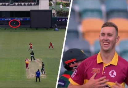 Billy Stanlake somehow sends his delivery into orbit