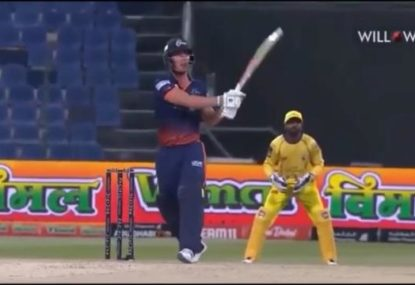 Chris Lynn bludgeons stunning 30-ball 91 in T10 match