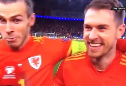 Gareth Bale's hilarious reaction after dropping mid-intervew F-bomb