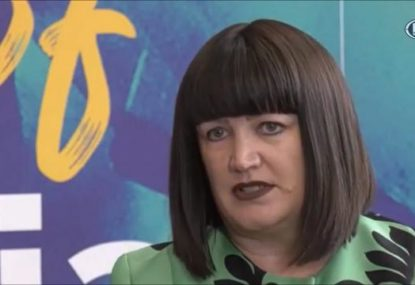 Raelene Castle speaks after announcing Dave Rennie as the new Wallabies coach