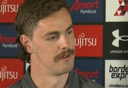 Joe Daniher speaks publicly for the first time since failed trade request