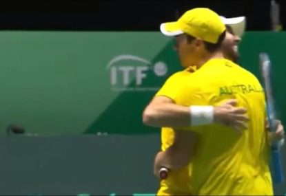 Aussie doubles pair save FOUR match points in a row in stunning Davis Cup comeback