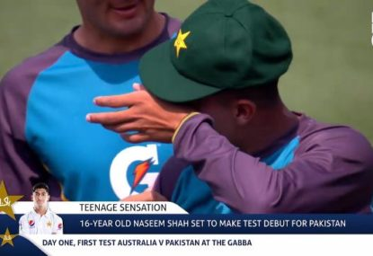 16-year-old Test debutant's emotional reaction to receiving his cap