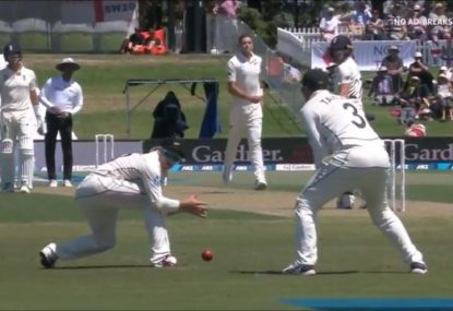 Rory Burns survives as NZ slips cordon simply lets an edge fly right through