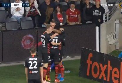 Epic celebration ensues as Wanderers score within 90 seconds against City