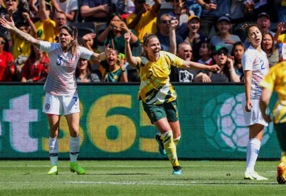 Jenna McCormick's Matildas debut sends shockwaves through AFL
