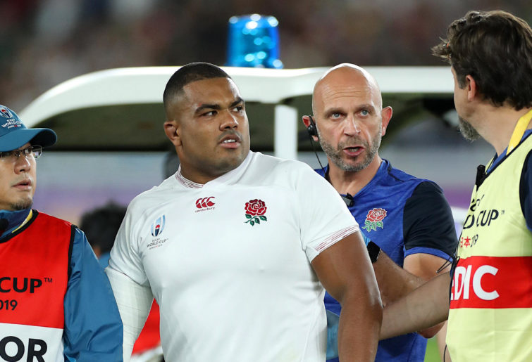 Kyle Sinckler after being knocked out in the RWC final
