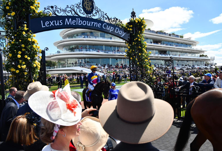 Flemington on Melbourne Cup day