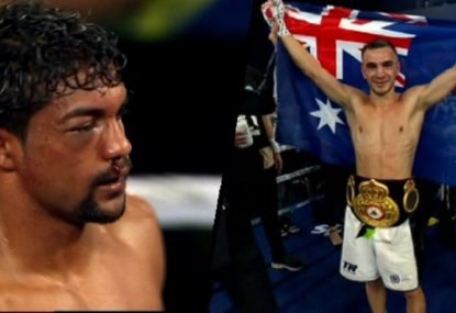 Opponent's nasty eye injury sees Australia's Andrew Moloney claim the WBA interim World title