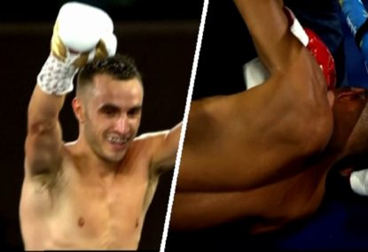 Code War: Aussie boxer defends title with VICIOUS body shot