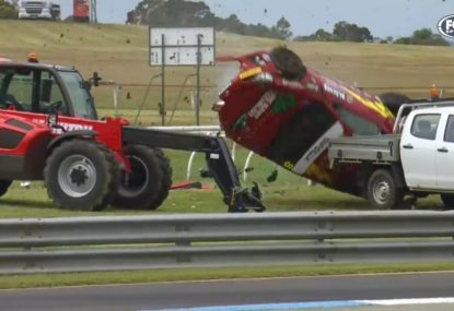 Sandown 500: Toyota 86 race abandoned after nightmare crash on opening lap