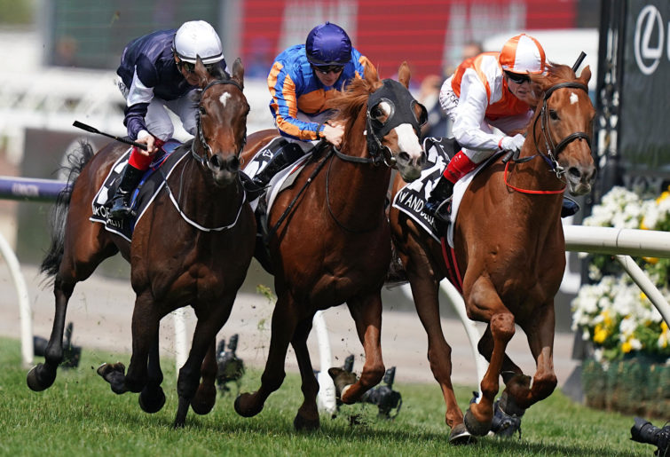 The finish of the 2019 Melbourne Cup