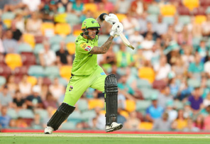 Hales defends fielding as Thunder keep BBL hopes alive