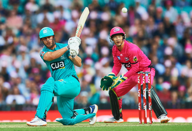 Chris Lynn of the Heat bats during the Big Bash League