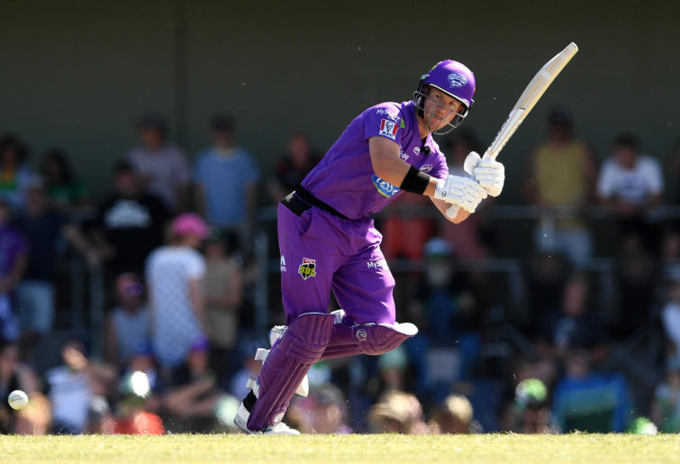 D'Arcy Short of the Hurricanes bats during the Big Bash League